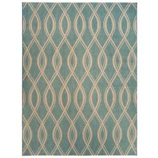 5x7 outdoor rug 5x7 teal blue ikat loop indoor outdoor area rug