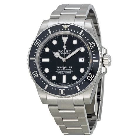 Rolex Sea-Dweller 4000 Black Dial Stainless Steel Oyster ...
