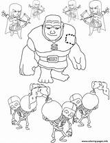 Clash Clans Coloring Pages Printable Troop Colouring Wizard Template sketch template
