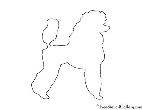 Poodle Template Printable by Poodle Skirt Poodle Template Poodle Applique Template