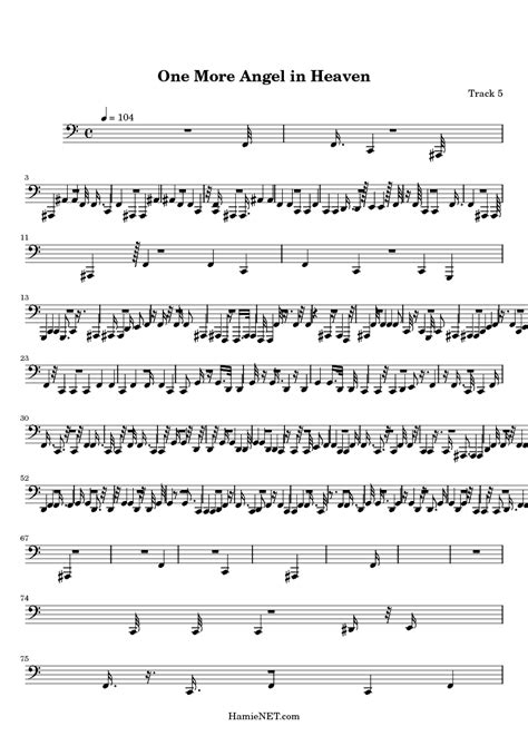 Softly sing songs to me. One More Angel in Heaven Sheet Music - One More Angel in Heaven Score • HamieNET.com
