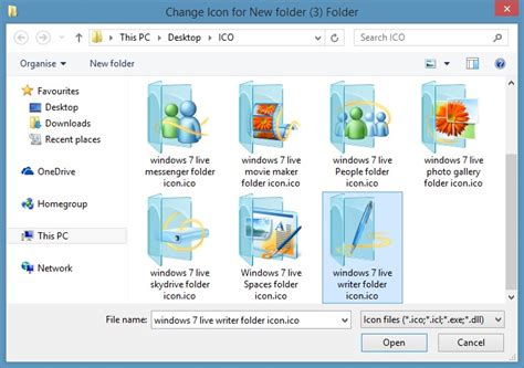 how to change folder icon in windows 10 8 7