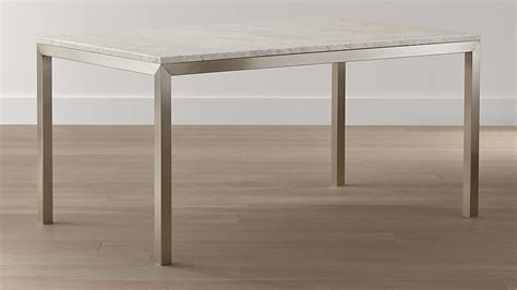 Parsons White Marble Top/ Stainless Steel Base Dining