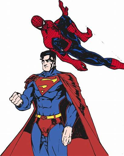 Superman Spider Drawing Cape Edcom02 Colored Deviantart
