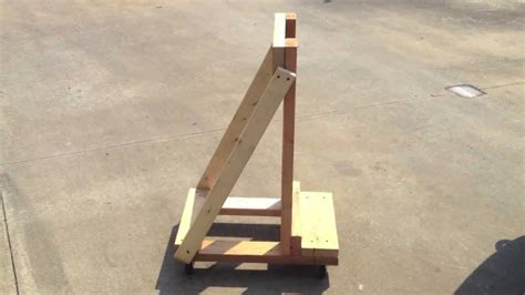 How To Make A Boat Motor Stand by Building An Easy Outboard Motor Stand Cart