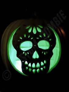 Sugar Skull Pumpkin Stencils Free by Pumpkin Stencil Sugar Skull Carving Crafts