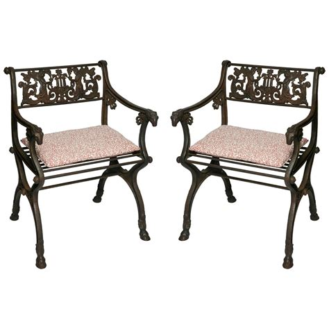 Garden Chairs For Sale by Pair Of Antique Iron Garden Chairs For Sale At 1stdibs
