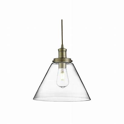 Pyramid Brass Pendant Antique Glass Ceiling Lighting