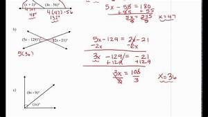 Finding Measures Of Angles From Diagrams