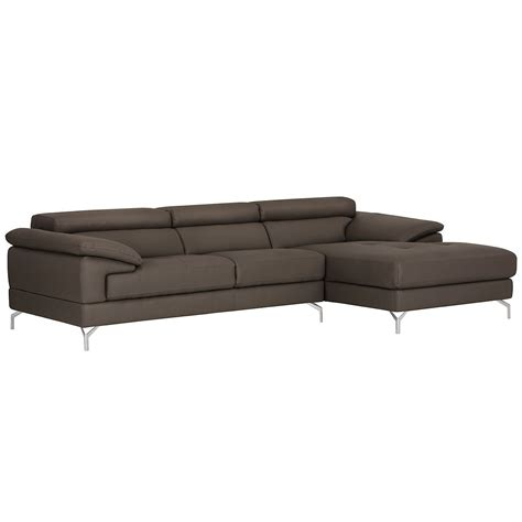 chaise microfibre city furniture dash dk gray microfiber right chaise sectional