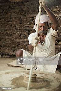 Traditional Indian Potter Spinning The Manual Pottery