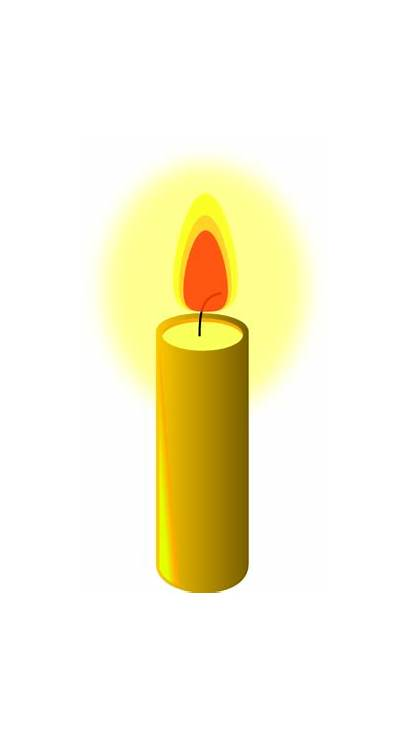 Candle Clipart Transparent Yellow Clip Candles Cliparts