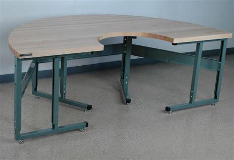 stackbin custom projects semi circle maple top workbench