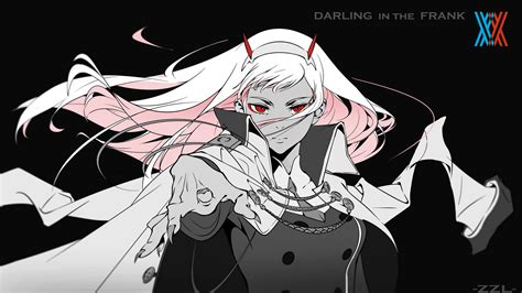 Zero two ditf (note i am not an expert by any means, and this is my first ever custom wallpaper that i've made.) i made it for myself and my good friend jake to use, but if you enjoy it you can too :dd. Darling In The FranXX Red Eyes Zero Two With Black ...