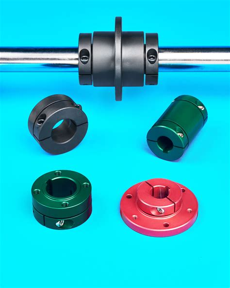 clamping shaft collars  rigid couplings permit precision mounting  alignment