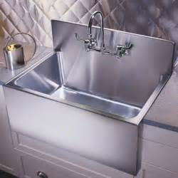 kitchen sinks with backsplash kitchen sinks large apron basins with steel backsplash by just