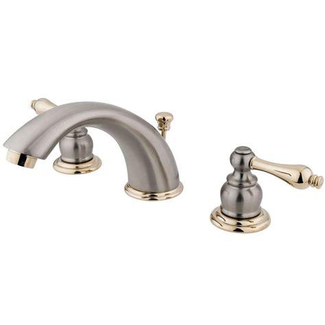 kingston brass 8 in widespread 2 handle mid arc