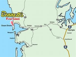 Ocean Shores Washington Map