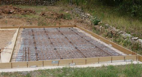 construire une dalle beton exterieur construire un garage pour 2 v 233 hicules le de richard 68