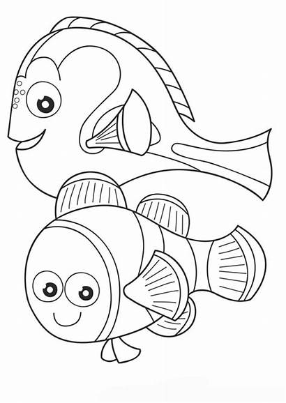 Coloring Printable Pages Dory Nemo Finding Sheets