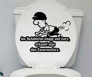 Wandtattoo Wc Sprüche : wc deckel aufkleber kasernenfurz toilette m nner spruch spr che badezimmer 1k164 wandtattoos ~ Markanthonyermac.com Haus und Dekorationen