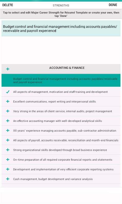 categories accounting focusing on resume writing services