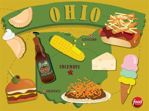 the best food in ohio best food in america by state