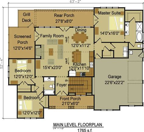 craftsman open floor plans one craftsman home designs one or two