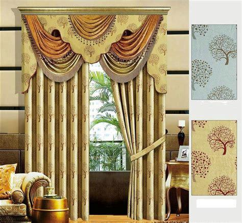 luxury valance for window curtains treatment customized