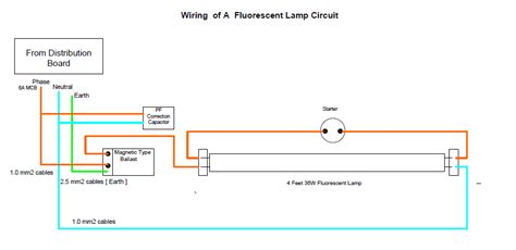 Wiring Fluorescent Lamp Circuit Electrical Engineering
