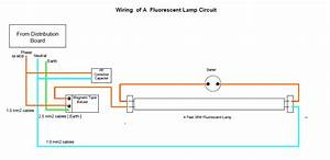Wiring A Fluorescent Lamp Circuit
