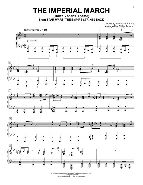 the imperial march darth vader s theme sheet music direct