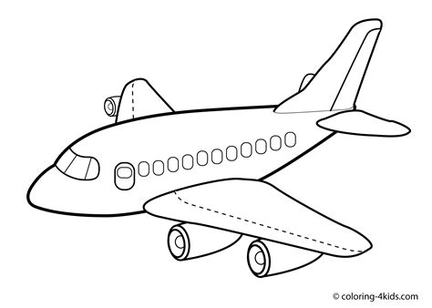 jet coloring pages  kids airplane coloring pages