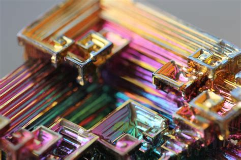 macro photography  bismuth crystal art people gallery