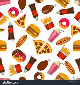 Junk Food Clipart Background - ClipartXtras