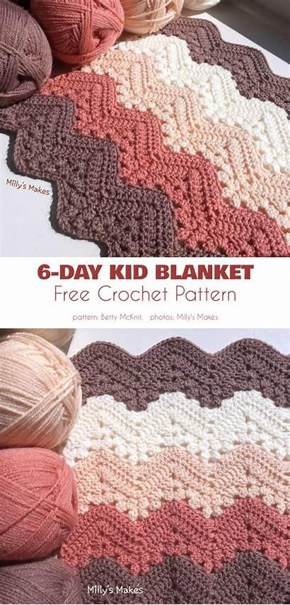 Crochet Patterns Ripple Blanket Elegant Blankets Knitting