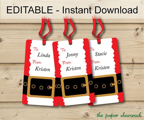 christmas gift tags holiday gift tags christmas tags hang
