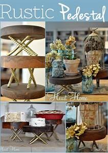 diy, rustic, wood, pedestals