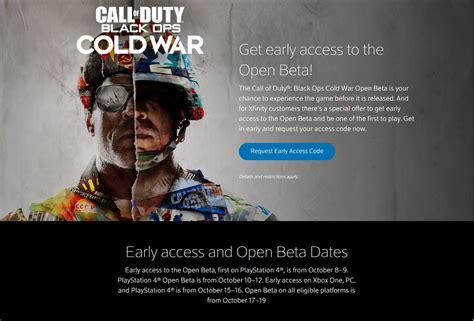 call  duty black ops cold war beta