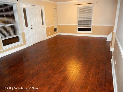 DIY Vintage Chic: DIY Laminate Flooring Project Completed