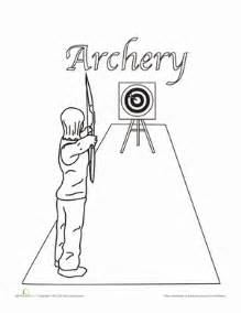 archery coloring sheet homeschooling sports coloring