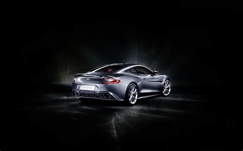 Car Background by Gray Aston Matin Car In The Stop Black Background And
