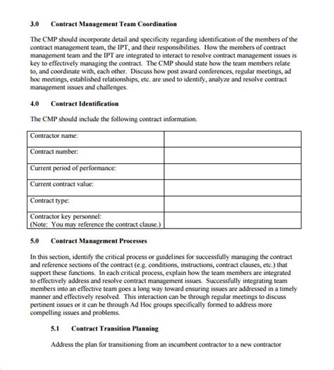 contract abstract form 8 contract summary sles sle templates