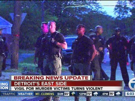facing charges  brawl starts  detroit vigil
