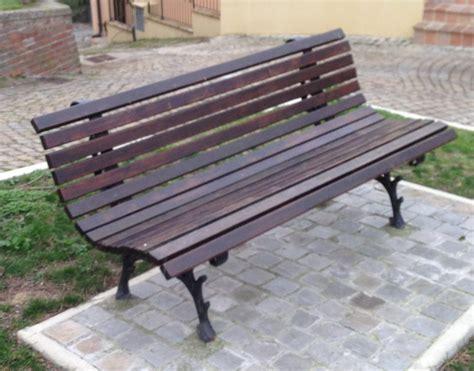 panchina per esterno panchina foresta ghisa legno pino parco arredo urbano pino