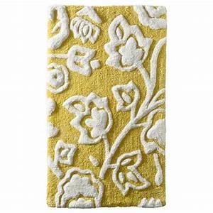 thresholdtm floral bath rug yellow interior design With bathroom area rugs target