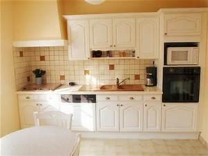Cuisine Repeinte En Blanc : repeindre cuisine bois en blanc cuisine en bois repeinte pinacotech ~ Melissatoandfro.com Idées de Décoration