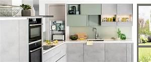 Darty Cuisine équipée : cuisine sur mesure scandinave effet b ton quartz iena ~ Premium-room.com Idées de Décoration