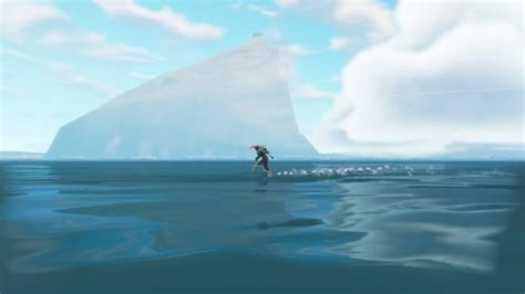 fortnite season   huge iceberg  heading   map
