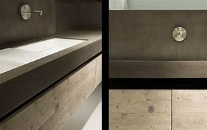 meuble de salle de bain epure a l39etat brut With meuble de salle de bain contemporain haut de gamme